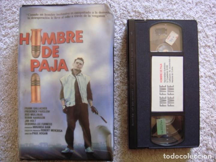 VHS - HOMBRE DE PAJA (THE HUMPTY DUMPTY MAN) - 1986 - FRANK GALLACHER - DIR. P.J. HOGAN (Cine - Películas - VHS)