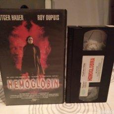Cine: HEMOGLOBIN- VHS- RUTGER HAUER. Lote 194235370