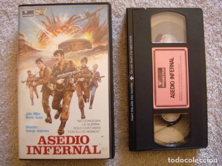 VHS - ASEDIO INFERNAL (HERO BUNKER) - 1971 - JOHN MILLER, MARIA XENIA - DIR. GEORGE ANDREWS (Cine - Películas - VHS)
