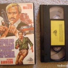 Cine: VHS - NAPOLES POLICIA ESPECIAL - 1978 - RICHARD HARRISON, ENRICO MAISTO - DIR. MARIO BIANCHI - UNICA. Lote 194246127