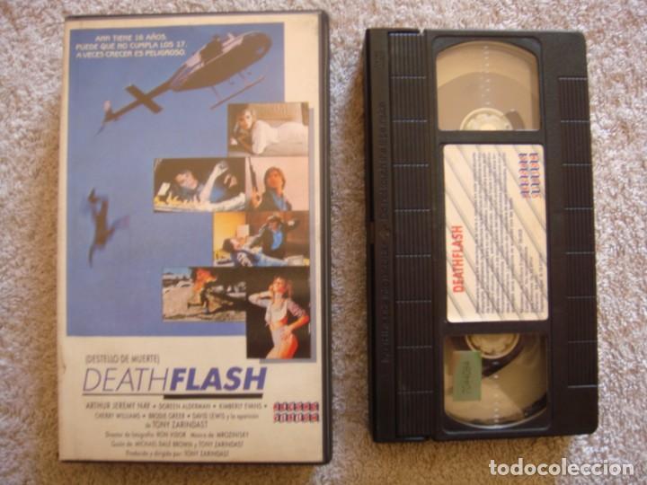 VHS - DEATH FLASH (DESTELLO DE MUERTE) - 1986 - A.J. NAY, DOREEN ALDERMAN - DIR. TONY ZARINDAST (Cine - Películas - VHS)