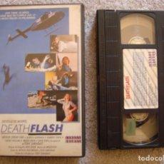 Cine: VHS - DEATH FLASH (DESTELLO DE MUERTE) - 1986 - A.J. NAY, DOREEN ALDERMAN - DIR. TONY ZARINDAST. Lote 194246808