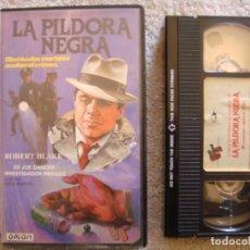 Cine: VHS - LA PILDORA NEGRA (THE BIG BLACK PILL) - 1981 - ROBERT BLAKE - DIR. REZA BADIYI. Lote 194261905