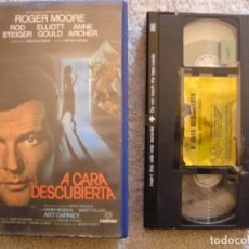 Cine: VHS - A CARA DESCUBIERTA - 1984 - ROGER MOORE, ROD STEIGER - DIR. BRYAN FORBES. Lote 194262622