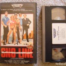 Cine: VHS - SNO LINE (LA RUTA DE LA COCAINA) - 1985 - VINCE EDWARDS, PAUL L. SMITH - DIR. DOUGLAS F. O'NEO. Lote 194264081