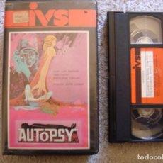 Cine: VHS - AUTOPSY (AUTOPSIA) - 1973 - JACK TAYLOR - DIR. JUAN LOGAR - UNICA EN TC - IVS. Lote 194291883