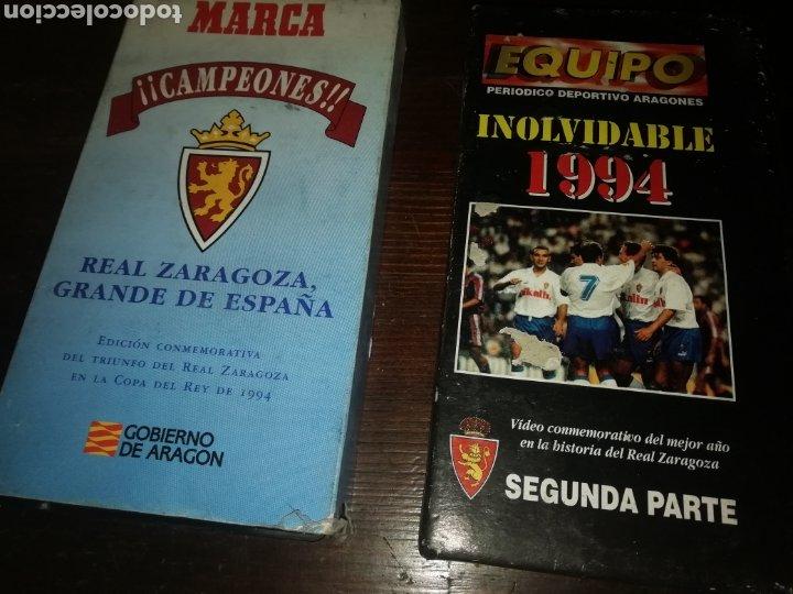 2 PELÍCULAS DE FÚTBOL REAL ZARAGOZA DE 1994 CAMPEON COPA DEL REY (Cine - Películas - VHS)