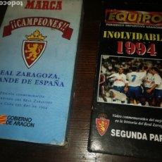 Cine: 2 PELÍCULAS DE FÚTBOL REAL ZARAGOZA DE 1994 CAMPEON COPA DEL REY. Lote 194346768