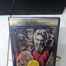 Cine: LOS DIEZ MANDAMIENTOS VIDEO VHS.SIN ABRIR PRECINTADA. Lote 194489993