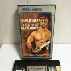 Cine: VHS ESPARTACO Y LOS DIEZ GLADIADORES. Lote 194493155