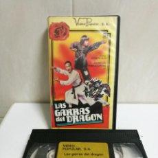 Cine: VHS LAS GARRAS DEL DRAGON. Lote 194493551
