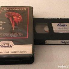 Cine: VHS ORIGINAL / HALLOWEEN (LEER). Lote 194516482