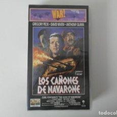 Cine: LOS CAÑONES DE NAVARONE GREGORY PECK ANTHONY QUINN WAR CLASSICS CINTA DE VIDEO VHS. Lote 194524381