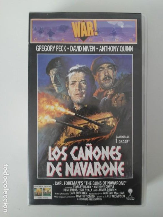 Cine: Los Cañones de Navarone Gregory Peck Anthony Quinn War Classics cinta de video VHS - Foto 6 - 194524381