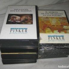 Cine: LOTE DE 7 CINTAS VHS DE COCINA Y UNA DE GESTION DE BARRA.. Lote 194560510