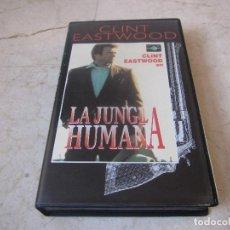 Cine: CLINT EASTWOOD - LA JUNGLA HUMANA VHS - PLANETA DEAGOSTINI 1997. Lote 194649168