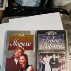 Cine: 2 VHS. MARUXA Y LA VERBENA DE LA PALOMA. RTVE. METROVIDEO. Lote 194734797