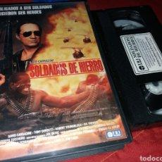 Cine: SOLDADOS DE HIERRO- VHS- CIRIO H. SANTIAGO- DAVID CARRADINE- UNICA EN TC. Lote 194860360