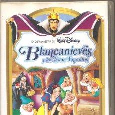 Cine: BLANCANIEVES Y LOS SIETE ENANITOS. WALT DISNEY. VHS. Lote 194920360