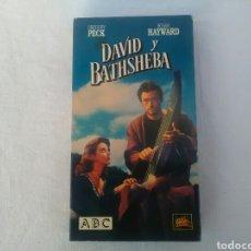 Cine: PELÍCULA EN VHS DAVID Y BATHSHEBA. Lote 194945883