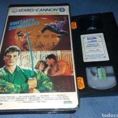 Cine: CONTACTO SANGRIENTO- VHS- 1 EDICION IZARO CANNON. Lote 194969563