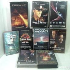 Cine: 9 PELICULAS VHS-ACCION-COCCON- EL IMPERIO DEL FUEGO -LA MILLA VERDE -JURASSIC PARK... VIDEO CINTAS . Lote 194974833