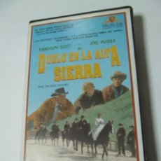 Cine: VHS VIDEO DUELO EN LA ALTA SIERRA SAM PECKINPAH FUNDA GRANDE MGM HOME VIDEO. Lote 195060511