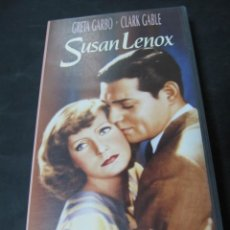 Cine: VHS VIDEO SUSAN LENOX GRETA GARBO CLARK GABLE. Lote 195060550