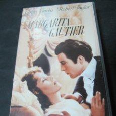 Cine: VHS MARGARITA GAUTIER LA DAMA DE LAS CAMELIAS GEORGE CUKOR GRETA GARBO ROBERT TAYLOR LIONEL BARRYMOR. Lote 195060631