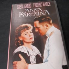 Cine: VHS VIDEO ANA ANNA KARENINA GRETA GARBO CLARENCE BROWN FREDRIC MARCH BASIL RATHBONE MAUREEN O'SULL. Lote 195060772
