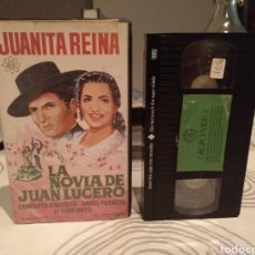 Cine: VHS LA NOVIA DE JUAN LUCERO - JUANITA REINA ANGEL PERALTA CONCHITA BAUTISTA. Lote 195144395