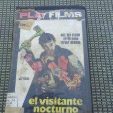 Cine: EL VISITANTE NOCTURNO VHS - PLAYFILMS - 1ª EDICIÓN - TERROR - SLASHER. Lote 195151732