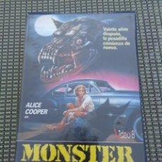 Cine: MONSTER DOG (1984) - CLAUDIO FRAGASSO ALICE COOPER VICTORIA VERA CARLOS SANTURIO VHS - TERROR. Lote 195152475