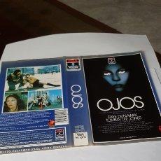 Cine: CARÁTULA VHS ORIGINAL PEL. OJOS. Lote 195192767
