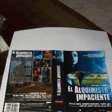 Cine: CARÁTULA VHS PEL. EL ALQUIMISTA IMPACIENTE. Lote 195192841