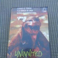 Cine: UNINVITED VHS - SERIE B OCHENTERO DE GREYDON CLARK - TERROR. Lote 195200286