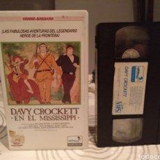 Cine: DAVY CROCKETT EN EL MISSISSIPPI (1976) - HANNA-BARBERA - CHARLES A. NICHOLS -1ª EDICION GRUPO AGUILA. Lote 195246053