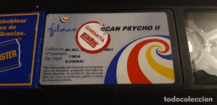 Cine: 1 VIDEO VHS SIN CARATULA** AMERICAN PSYCHO II Morgan J. Freeman . Mila Kunis ** 2002 SIN REVISAR - Foto 2 - 195337410