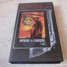 Cine: CLINT EASTWOOD - INFIERNO DE COBARDES VHS - PLANETA DEAGOSTINI 1997. Lote 195353228