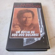 Cine: CLINT EASTWOOD - UN BOTIN DE 500.000 DOLARES VHS - PLANETA DEAGOSTINI 1997. Lote 195353382