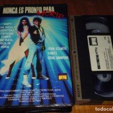 Cine: NUNCA ES PRONTO PARA MORIR - JOHN STAMOS, VANITY, GENE SIMMONS - VHS. Lote 195358116