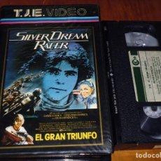 Cine: EL GRAN TRIUNFO / SILVER DREAM RACER - DAVID ESSEX, CRISTINA RAINES - VHS. Lote 195358267