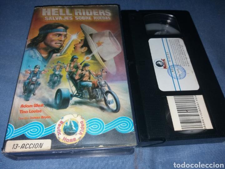 HELL RIDERS - VHS- (UNICA) MOTORAS VIOLENTOS (Cine - Películas - VHS)