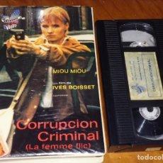 Cine: CORRUPCION CRIMINAL / LA FEMME FLIC - MIOU MIOU, IVES BOISSET - VHS. Lote 195446233