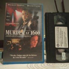 Cine: MURDER AT 1600 (ASESINATO EN LA CASA BLANCA) (1997) - WESLEY SNIPES DIANE LANE ALAN ALDA VHS 1ª ED.. Lote 195503563