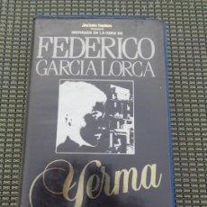 Cine: VHS- PELICULA YERMA DE FEDERICO GARCIA LORCA -. Lote 195506325