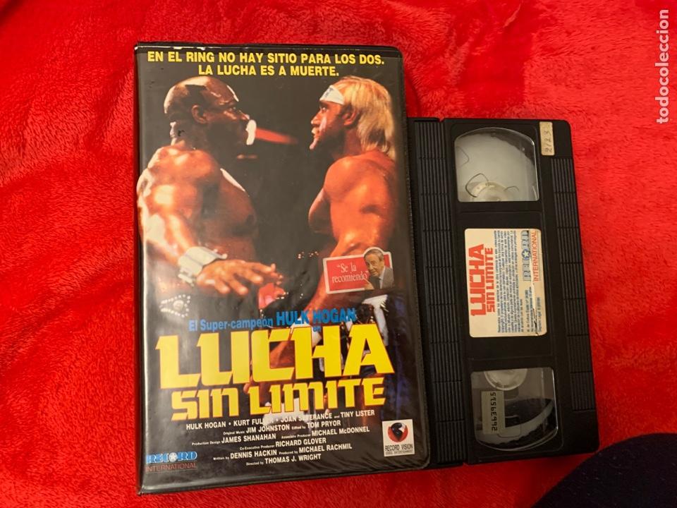 LUCHA SIN LÍMITES PELÍCULAS VHS PRIMERA EDICIÓN HULK HOGAN (Cine - Películas - VHS)