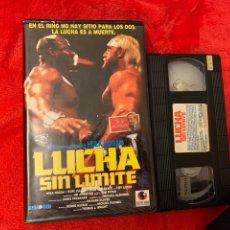 Cine: LUCHA SIN LÍMITES PELÍCULAS VHS PRIMERA EDICIÓN HULK HOGAN. Lote 195906860