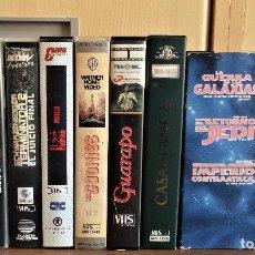 Cine: 10 PELICULA VHS CLASICAS EL TREN DEL TERROR .-VIERNES 13.-LA GUERRA DE LAS GALAXIAS.-LOS GOONIES ETC. Lote 196278473