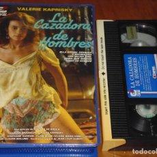 Cine: LA CAZADORA DE HOMBRES - CLAUDE BRASSEUR, VALERIE KAPRISKY, PHILIPPE DE BROCA - EROTICA - VHS. Lote 196562771